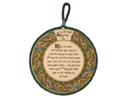 Irish Blessing Wall Plaque Pot Holder